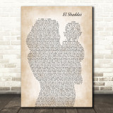 Amy Grant El Shaddai Mother & Baby Song Lyric Music Art Print