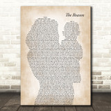 Hoobastank The Reason Mother & Baby Song Lyric Music Art Print