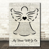 Celine Dion My Heart Will Go On Music Script Angel Song Lyric Music Art Print