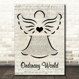Duran Duran Ordinary World Music Script Angel Song Lyric Music Art Print