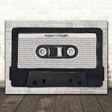 The Sugarhill Gang Rapper's Delight Music Script Cassette Tape Song Lyric Music Art Print