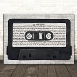 Whitesnake Is This Love Music Script Cassette Tape Song Lyric Music Art Print