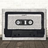 Stone Sour Song #3 Music Script Cassette Tape Song Lyric Music Art Print