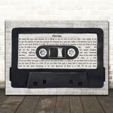 Nine Inch Nails Heresy Music Script Cassette Tape Song Lyric Music Art Print