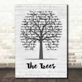 Rush The Trees Music Script Tree Song Lyric Music Art Print