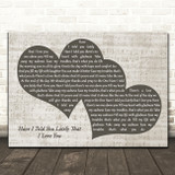 Van Morrison Have I Told You Lately That I Love You Landscape Music Script Two Hearts Song Lyric Music Art Print