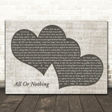 Theory Of A Deadman All Or Nothing Landscape Music Script Two Hearts Song Lyric Music Art Print
