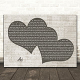 George Michael As Landscape Music Script Two Hearts Song Lyric Music Art Print