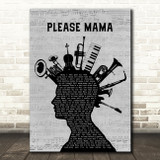 Go Cat Go Please Mama Please Musical Instrument Mohawk Song Lyric Music Art Print