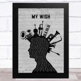Rascal Flatts My Wish Musical Instrument Mohawk Song Lyric Music Art Print