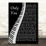 Yazoo Only You Piano Song Lyric Music Art Print