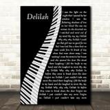 Tom Jones Delilah Piano Song Lyric Music Art Print