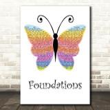 Kate Nash Foundations Rainbow Butterfly Song Lyric Music Art Print