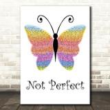Tim Minchin Not Perfect Rainbow Butterfly Song Lyric Music Art Print