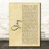 Rihanna Stay Rustic Script Song Lyric Music Art Print