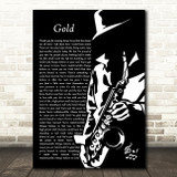 Spandau Ballet Gold Black & White Saxophone Player Song Lyric Music Art Print