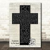 Leona Lewis Footprints In The Sand Music Script Christian Memorial Cross Song Lyric Music Art Print