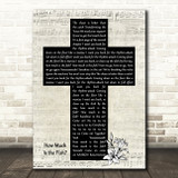 Scooter How Much Is the Fish Music Script Christian Memorial Cross Song Lyric Music Art Print