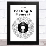 Feeder Feeling A Moment Vinyl Record Song Lyric Music Art Print