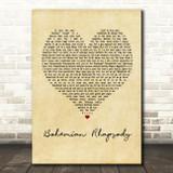 Queen Bohemian Rhapsody Vintage Heart Song Lyric Quote Print