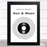 Above & Beyond Sun & Moon Vinyl Record Song Lyric Music Art Print