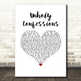 Avenged Sevenfold Unholy Confessions White Heart Song Lyric Music Art Print