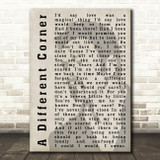 George Michael A Different Corner Shadow Song Lyric Quote Print