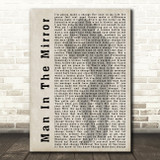Michael Jackson Man In The Mirror Shadow Song Lyric Quote Print