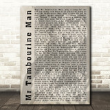 Bob Dylan Mr Tambourine Man Shadow Song Lyric Quote Print
