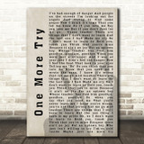 George Michael One More Try Shadow Song Lyric Quote Print