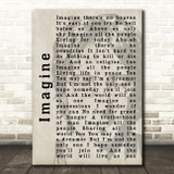 John Lennon Imagine Shadow Song Lyric Quote Print