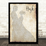Lighthouse Family High Man Lady Dancing Song Lyric Quote Print