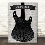 Nickelback Just For Electric Guitar Music Script Song Lyric Art Print