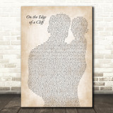 The Streets On the Edge of a Cliff Father & Baby Song Lyric Art Print