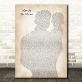 Michael Jackson Man In The Mirror Father & Baby Song Lyric Art Print