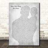 Brantley Gilbert Man That Hung The Moon Father & Baby Grey Song Lyric Art Print
