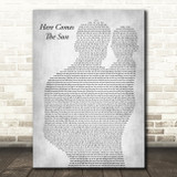 The Beatles Here Comes The Sun Father & Baby Grey Song Lyric Art Print