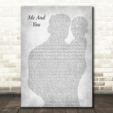 Jake Bugg Me And You Father & Baby Grey Song Lyric Art Print