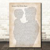 Dave Matthews Band Samurai Cop (Oh Joy Begin) Father & Child Song Lyric Art Print