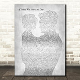 Nickleback If Today Was Your Last Day Father & Child Grey Song Lyric Art Print