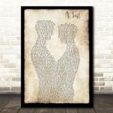 Etta James At Last Gay Couple Two Men Dancing Song Lyric Art Print