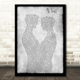 Etta James At Last Gay Couple Two Men Dancing Grey Song Lyric Art Print