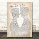 Shania Twain You're Still The One Two Men Gay Couple Wedding Song Lyric Art Print