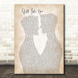 Paramore Still Into You Two Men Gay Couple Wedding Song Lyric Art Print