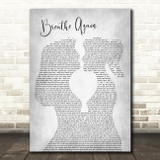 Toni Braxton Breathe Again Lesbian Women Gay Brides Couple Wedding Grey Song Lyric Art Print
