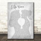 Helen Reddy I Am Woman Lesbian Women Gay Brides Couple Wedding Grey Song Lyric Art Print