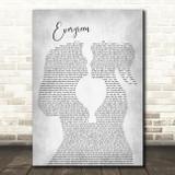 Westlife Evergreen Lesbian Women Gay Brides Couple Wedding Grey Song Lyric Art Print