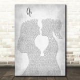 George Michael As Lesbian Women Gay Brides Couple Wedding Grey Song Lyric Art Print