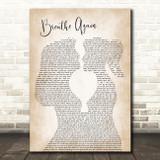 Toni Braxton Breathe Again Lesbian Women Gay Brides Couple Wedding Song Lyric Art Print
