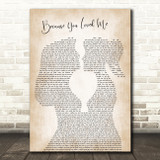 Celine Dion Because You Loved Me Lesbian Women Gay Brides Couple Wedding Song Lyric Art Print